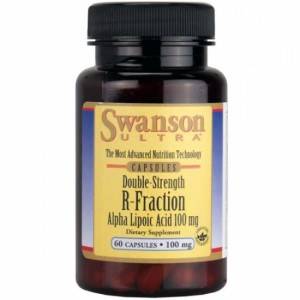 SWANSON DOUBLE STRENGTH R-FRACTION ALPHA LIPOIC ACID 100MG 60 KAPS