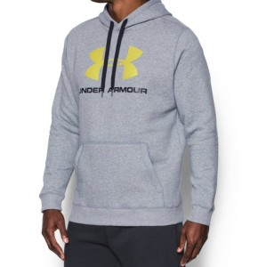 UNDER ARMOUR RIVAL FITTED GRAPHIC HOODIE 1302294 025