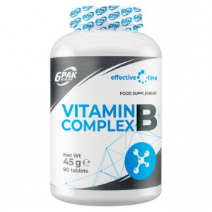 6PAK Nutrition Effective Line Vitamin B Complex - 90 tabl.