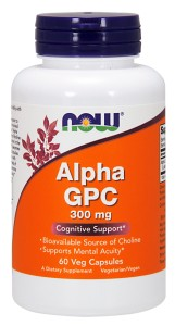 NOW FOODS ALPHA GPC 300 mg 60 caps. - Alfosceran choliny